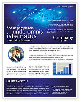 IP Address Newsletter Template, 05155, Telecommunication — PoweredTemplate.com