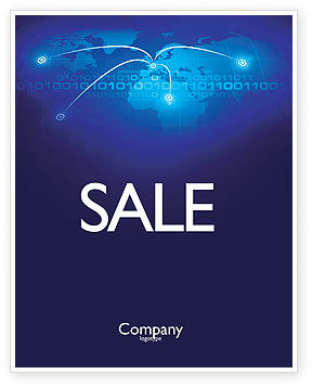 IP Address Sale Poster Template, 05155, Telecommunication — PoweredTemplate.com