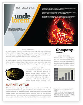 Art & Entertainment: Jazz Newsletter Template #05158