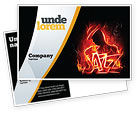 Art & Entertainment: Jazz Postcard Template #05158