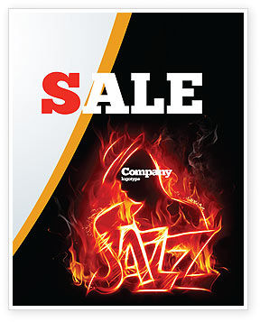 Art & Entertainment: Jazz Sale Poster Template #05158