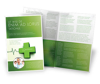 Medical Website Brochure Template, 05159, Medical — PoweredTemplate.com