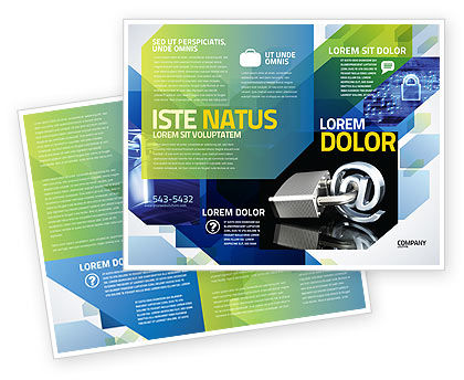 Technology, Science & Computers: Secure Internet Brochure Template #05161