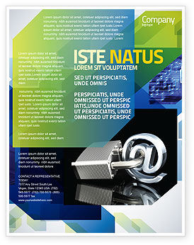 Secure Internet Flyer Template, 05161, Technology, Science & Computers — PoweredTemplate.com