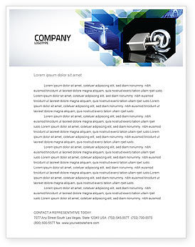 Technology, Science & Computers: Secure Internet Letterhead Template #05161