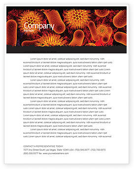 Medical: Microbiology Material Letterhead Template #05164