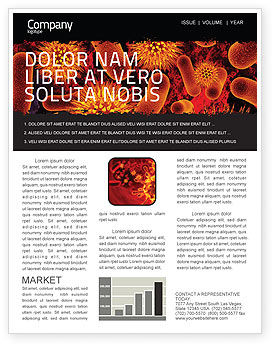 Microbiology Material Newsletter Template, 05164, Medical — PoweredTemplate.com