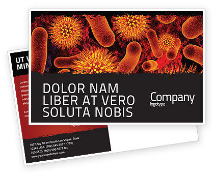 Medical: Microbiology Material Postcard Template #05164