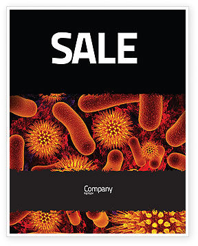 Microbiology Material Sale Poster Template, 05164, Medical — PoweredTemplate.com