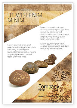 Religious/Spiritual: Feng Shui Stones Ad Template #05166