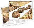 Religious/Spiritual: Feng Shui Stones Brochure Template #05166