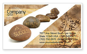 Feng Shui Stones Business Card Template