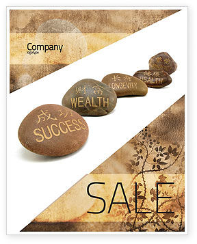Feng Shui Stones Sale Poster Template