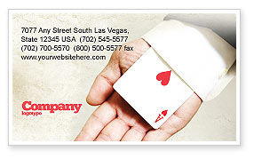 Consulting: Ace of Hearts Business Card Template #05168
