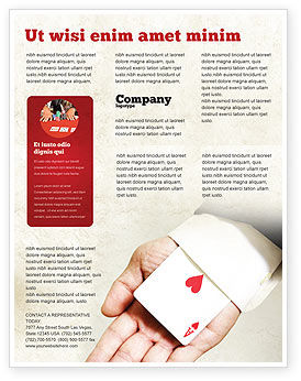 Consulting: Ace of Hearts Flyer Template #05168