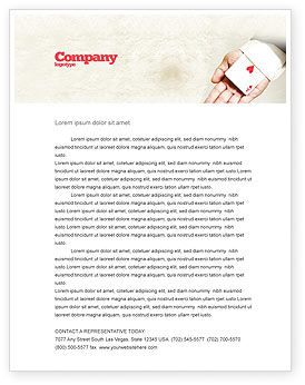 Ace of Hearts Letterhead Template