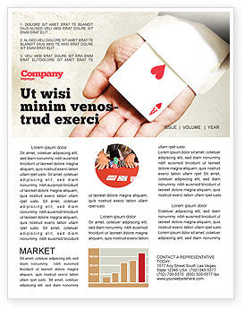 Ace of Hearts Newsletter Template, 05168, Consulting — PoweredTemplate.com