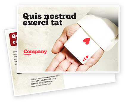 Consulting: Ace of Hearts Postcard Template #05168