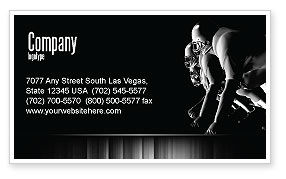 Sports: American Football Players Business Card Template #05174