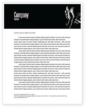 Sports: American Football Players Letterhead Template #05174
