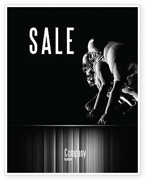 Sports: American Football Players Sale Poster Template #05174