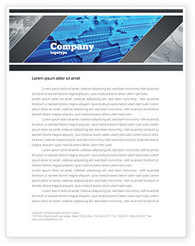 Transborder World Letterhead Template, 05178, Global — PoweredTemplate.com