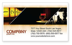 Film Director Business Card Template, 05179, Art & Entertainment — PoweredTemplate.com