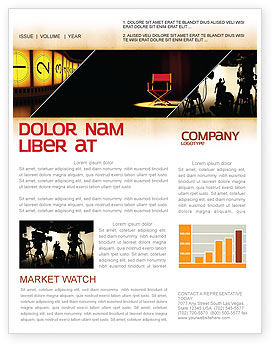 Art & Entertainment: Film Director Newsletter Template #05179