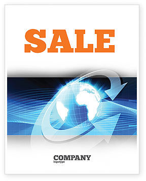 Global Interactive Sale Poster Template, 05197, Global — PoweredTemplate.com