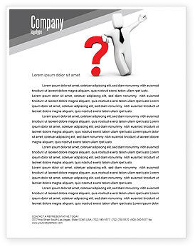 Consulting: Red Question Mark Under Hand Of Man Letterhead Template #05202