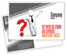 Consulting: Red Question Mark Under Hand Of Man Postcard Template #05202