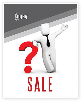 Consulting: Red Question Mark Under Hand Of Man Sale Poster Template #05202