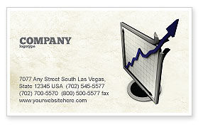 Financial/Accounting: Diagram Of Rise Business Card Template #05204