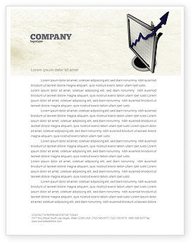 Diagram Of Rise Letterhead Template, 05204, Financial/Accounting — PoweredTemplate.com