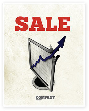 Diagram Of Rise Sale Poster Template, 05204, Financial/Accounting — PoweredTemplate.com