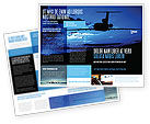 Cars/Transportation: Air Flight Brochure Template #05206