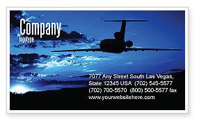 Air Flight Business Card Template, 05206, Cars/Transportation — PoweredTemplate.com
