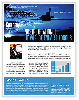 Air Flight Newsletter Template, 05206, Cars/Transportation — PoweredTemplate.com