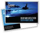 Cars/Transportation: Air Flight Postcard Template #05206