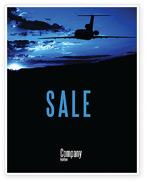 Air Flight Sale Poster Template, 05206, Cars/Transportation — PoweredTemplate.com