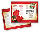 Holiday/Special Occasion: Red Roses Card Brochure Template #05207