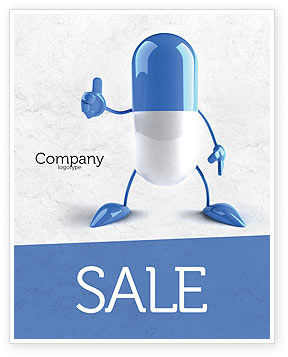Medical: Blue Pill Sale Poster Template #05210