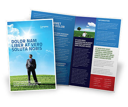 Happy Future Brochure Template, 05212, Education & Training — PoweredTemplate.com
