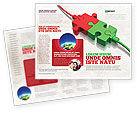 Business Concepts: Plantilla de folleto - conectado #05214