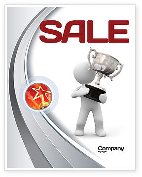 Prize Sale Poster Template, 05215, Education & Training — PoweredTemplate.com