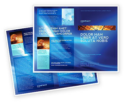 Abstract Blue Stroke Brochure Template