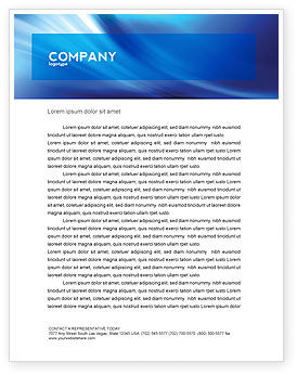 Abstract Blue Stroke Letterhead Template