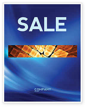 Abstract Blue Stroke Sale Poster Template, 05217, Abstract/Textures — PoweredTemplate.com