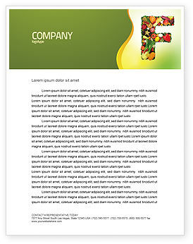 Food & Beverage: Food Letterhead Template #05225
