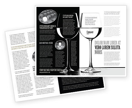 Black and White Brochure Template, 05226, Careers/Industry — PoweredTemplate.com